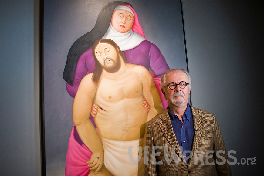 Colombian painter and sculptor Fernando Botero attends cultural events in Medellin