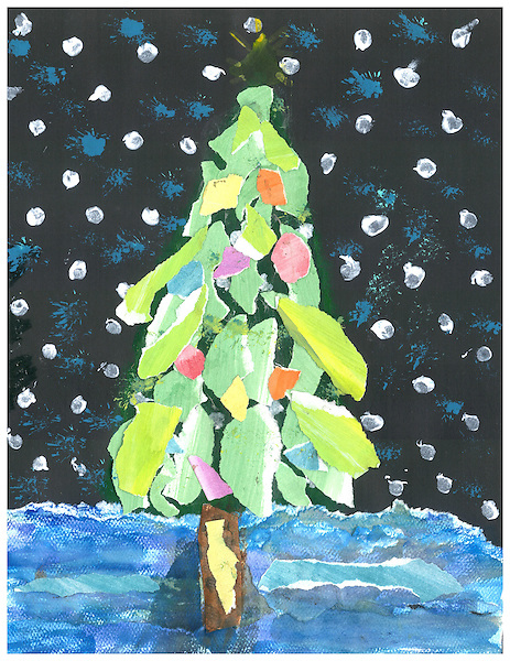 2015 holiday greeting card artwork winners announced news blog gloria xie who won in the middle school category in 2014 also claimed that honor this year as a seventh grader at pershing middle school m4hsunfo
