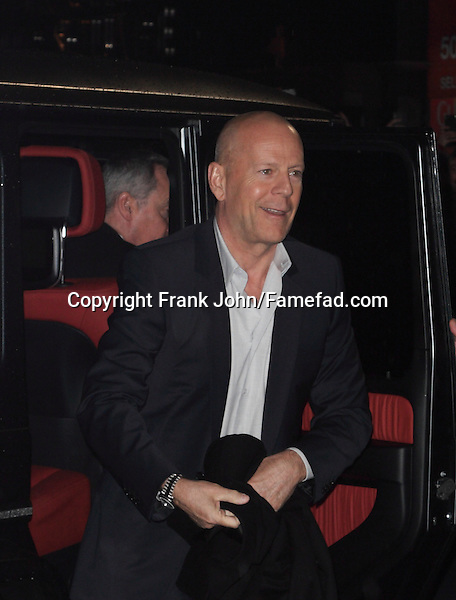 Bruce Willis and the A Good Day to Die Hard Premiere London. Photos!
