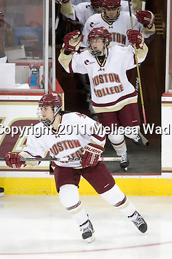 Stack sets school points record as Boston College edges Boston University in Beanpot