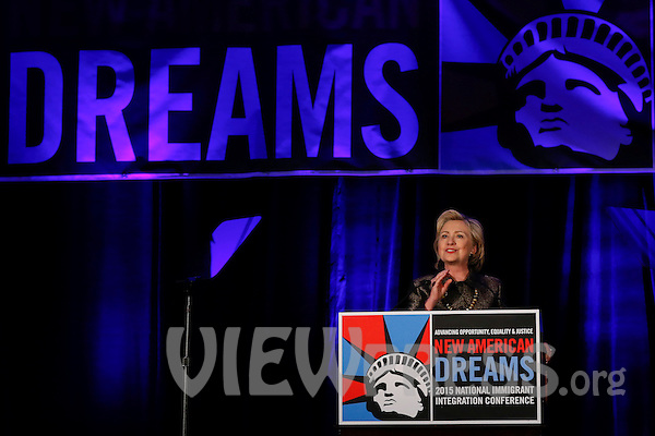 Presidential Candidate Hillary Clinton attends Immigrant Conference in New York
