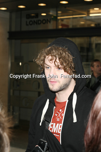 The Wanted Visit Radio 1 London. Arrival Photos