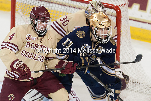 Summerhays exceptional as Notre Dame tops Boston College, reaches Hockey East semifinals