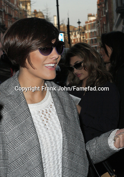 Frankie Sandford and The Saturdays Spotting London. Photos