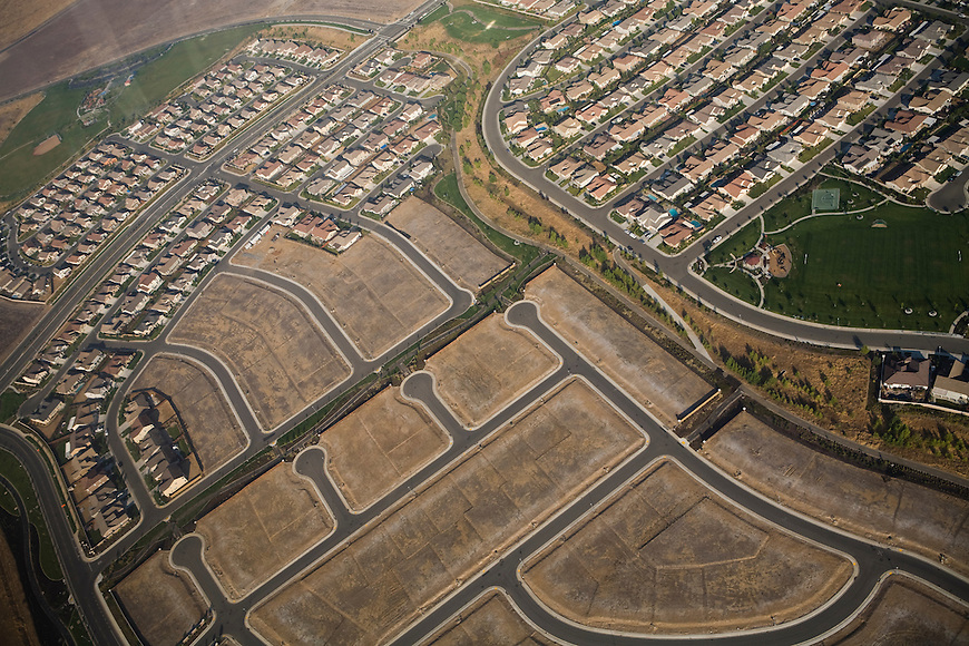 Aerials of Unfinished Housing Subdivisions