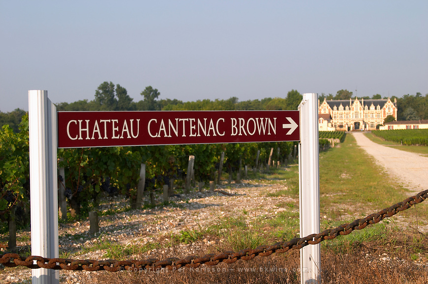 Bordeaux Medoc Margaux Chateau Cantenac Brown - stock photo samples