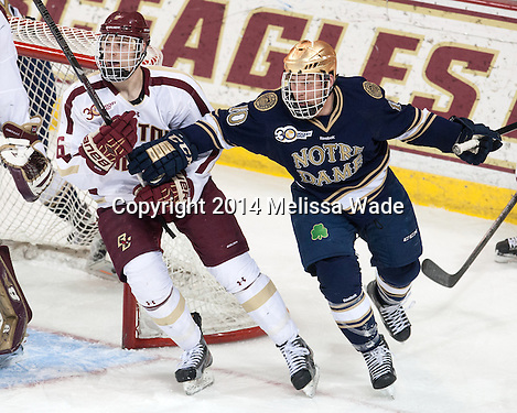 Johns nets two as Notre Dame blitzes Boston College in Game 1 of Hockey East quarterfinals