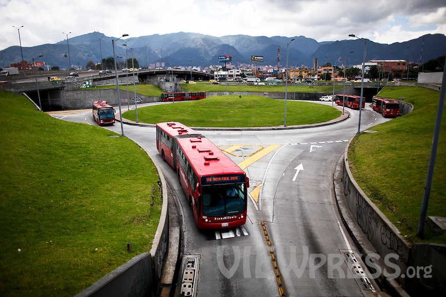 Transmilenio a public and mass transportation system in Bogota