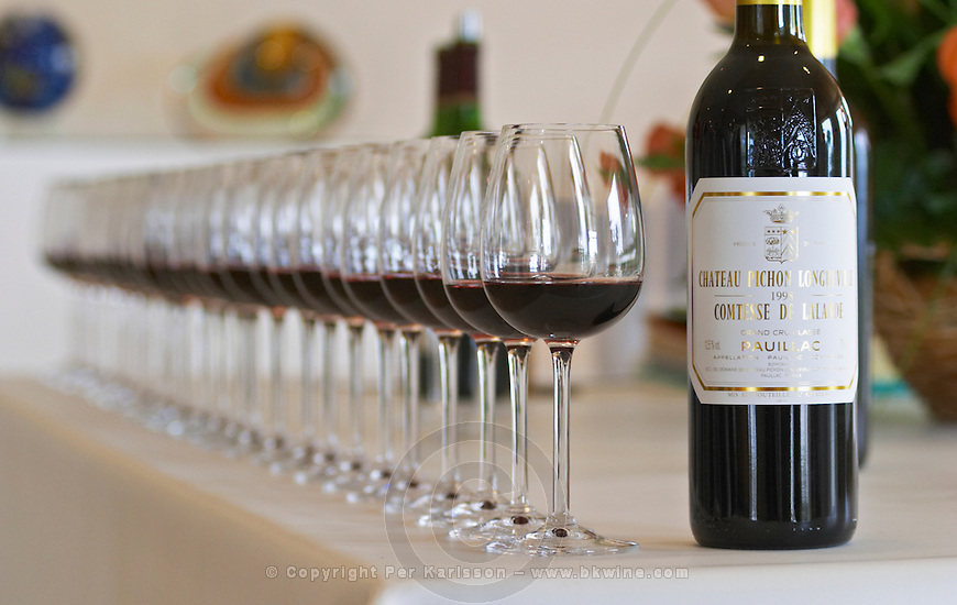 Bordeaux Medoc Pauillac Chateau Pichon Lalande stock photo samples