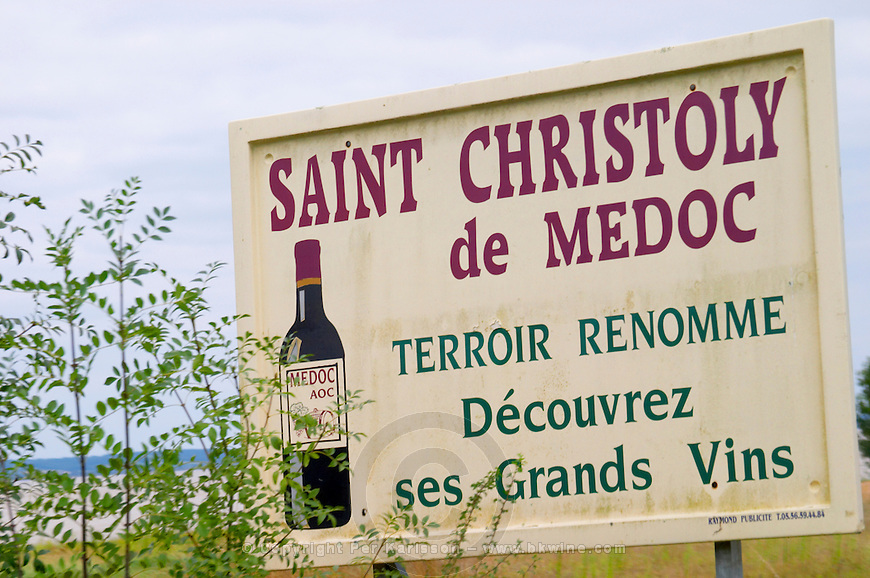 Bordeaux Medoc Chateau Saint Christoly - stock photo samples