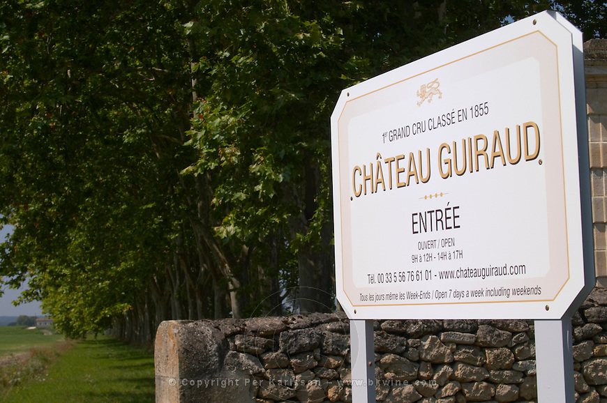 Bordeaux Sauternes Chateau Guiraud stock photo samples