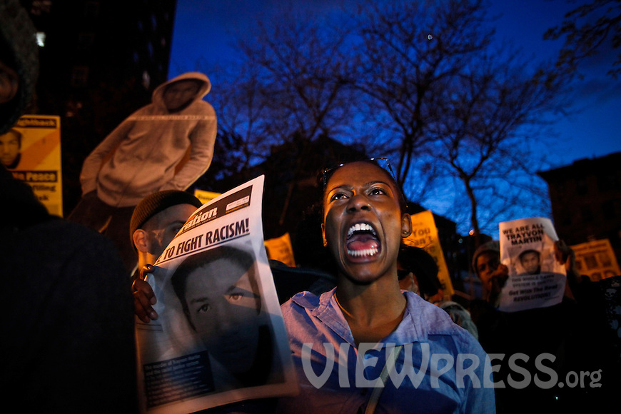 Demonstrators Hold Rally For Justice In Trayvon Martin Case In New York