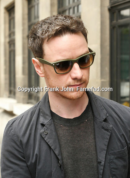 James McAvoy Spotting London. Photos