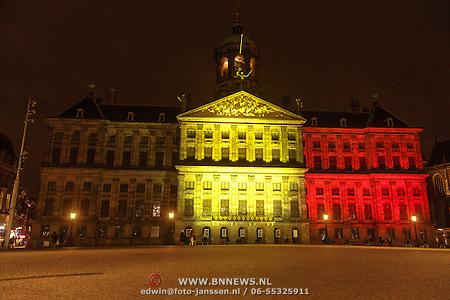 Belgische vlag op Paleis