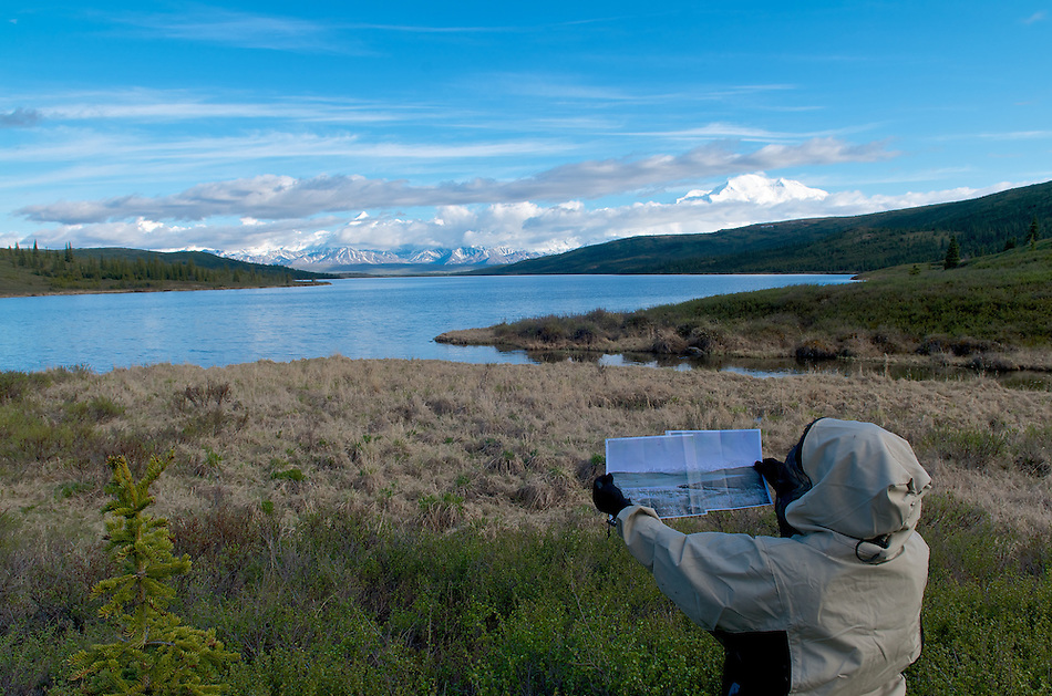 June 5, 2012 Lacy Karpilo holds a 1963 panoramic photo of Wonder Lake and Mount McKinley (also known as Denali) taken in the same location by Verde Watson in Denali National Park and Preserve, Alaska, United States. (Ron Karpilo)