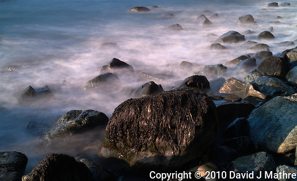 Long Exposure Exercise at Sand Dollar Beach, Big Sur Central California Coast. Image taken with a Nikon D3x and 50 mm f/1.4G lens  and Singh-Ray Filter (ISO 100, 50 mm, f/16, 8 sec). (David J Mathre)