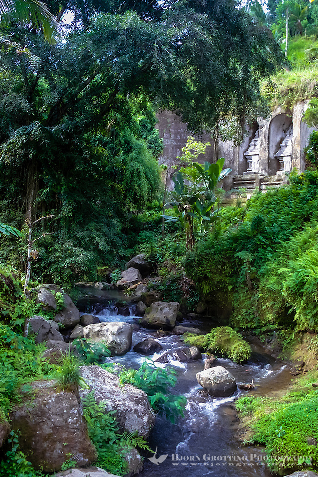 Bali, Gianyar, Gunung Kawi. An 11th century temple complex close to Tampaksiring. One of the most fascinating ancient sites on Bali. (Photo Bjorn Grotting)