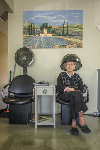 """I come here every Friday at 10 AM."" -Elsie Hensen at Rena Mae Salon & Spa on Washington Street in Calistoga (Clark James Mishler)"