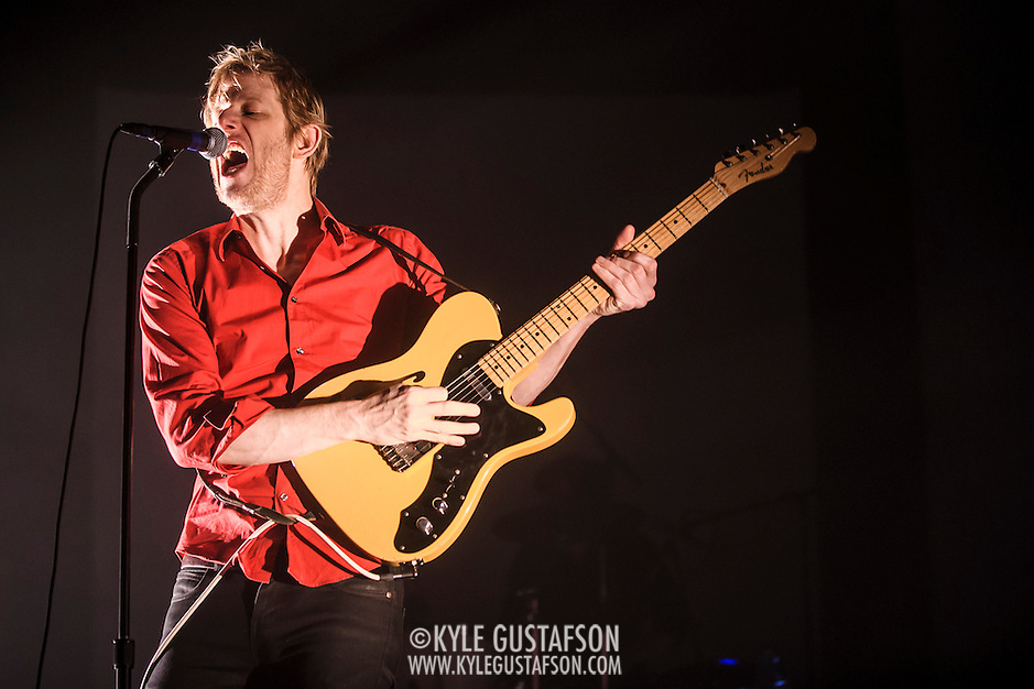 WASHINGTON, DC - September 3rd, 2014 - Britt Daniel of Spoon performs during the second of three sold-out nights at the Lincoln Theatre in Washington, D.C. (Photo by Kyle Gustafson / WAMU) (Photo by Kyle Gustafson)