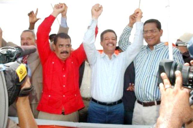 Adriano Sánchez Roa, Leonel Fernández y Héctor Rodríguez Pimentel