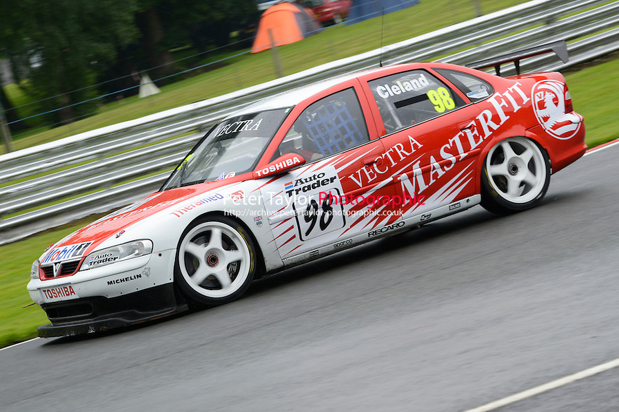 #98 John Cleland - Vauxhall Vectra during HSCC Super Touring Car Championship qualifying at Oulton Park, Little Budworth, Cheshire, United Kingdom. June 07 2014. World Copyright Peter Taylor/PSP. Copy of publication required for printed pictures. Every used picture is fee-liable. http://archive.petertaylor-photographic.co.uk (Peter Taylor/PSP)