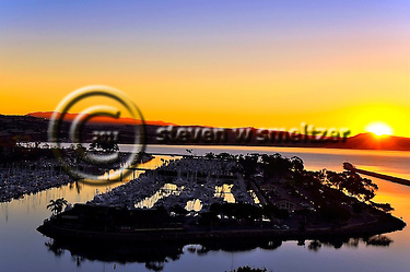 Sunrise Over Dana Point California Harbor (Steven Smeltzer)