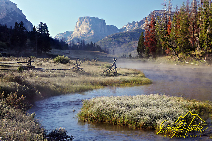 "Morning frost at the Green River in the Wind River Mountains. (Daryl Hunter's ""The Hole Picture"" � Daryl L. Hunter has been photographing the Yellowstone Region since 1987, when he packed up his view camera, Pentex 6X7, and his 35mm�s and headed to Jackson Hole Wyoming. Besides selling photography Daryl also publ)"