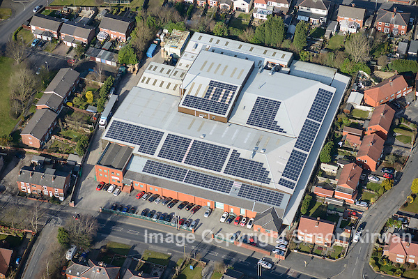 Aerial Photography Manchester - M & A Pharmachem. Aerial photography Simon Kirwan www.aerial-photographer.co.uk