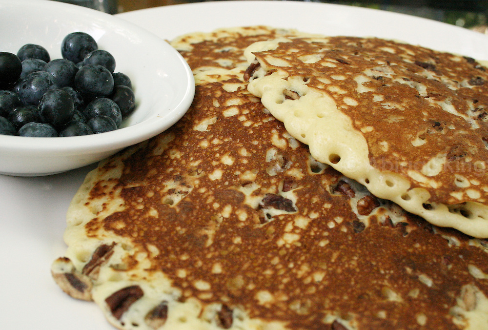 Blueberry pancake - with a side portion of blueberries