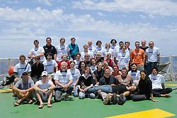 Wissenschaftler Team der AWI Expedition ANT-XXIV/1 von liks nach rechts: (Barber, Jonathan) (Sutton, Tracey) (Blanco Bercial, Leocadio) (Milhahn, Kirstin) (Sweetman, Christopher) (Piatkowski, Uwe) (Nishibe, Yuichiro) (Ossenbrügger, Holger) (Grieve, Janet ) (Buchholz, Friedrich) (Wiebe, Peter) (Kruse, Svenja) (Helmschmidt, Jessica) (Clarke-Hopcroft, Cheryl) (Allison, Dicky) (Schiel, Sigrid) (Benskin, Clare) (Angel, Martin) (Copley, Nancy) (Blachowiak-Samolyk, Katarzyna) (Pierrot-Bults, Annelies) (Nigro, Lisa)  (Folkers, Christina) (Bucklin, Ann) (Schuster, Jasmin) (Zoll, Yann) (Escribano, Rubén) (Schmitt, Bettina) (Auel, Holger) (Möckel, Claudia) (Wassmann, Andreas) (Jennings, Rob)  (Kuriyama, Mikiko) (Batta Lona, Paola) (Zankl, Solvin) (Bentama, Laila) (Machida, Ryuji) (Miyamoto, Hiroomi) - Der Schwerpunkt der wissenschaftlichen Untersuchungen während der Expedition ANT-XXIV/1 liegt auf Untersuchungen zur Biodiversität des Zooplanktons und ist Teil des internationalen Projekts ?Census of Marine Zooplankton? (CMarZ siehe www.cmarz.org), einem Feldprojekt des ?Census of Marine Life? (CoML siehe www.coml.org). (Solvin Zankl)