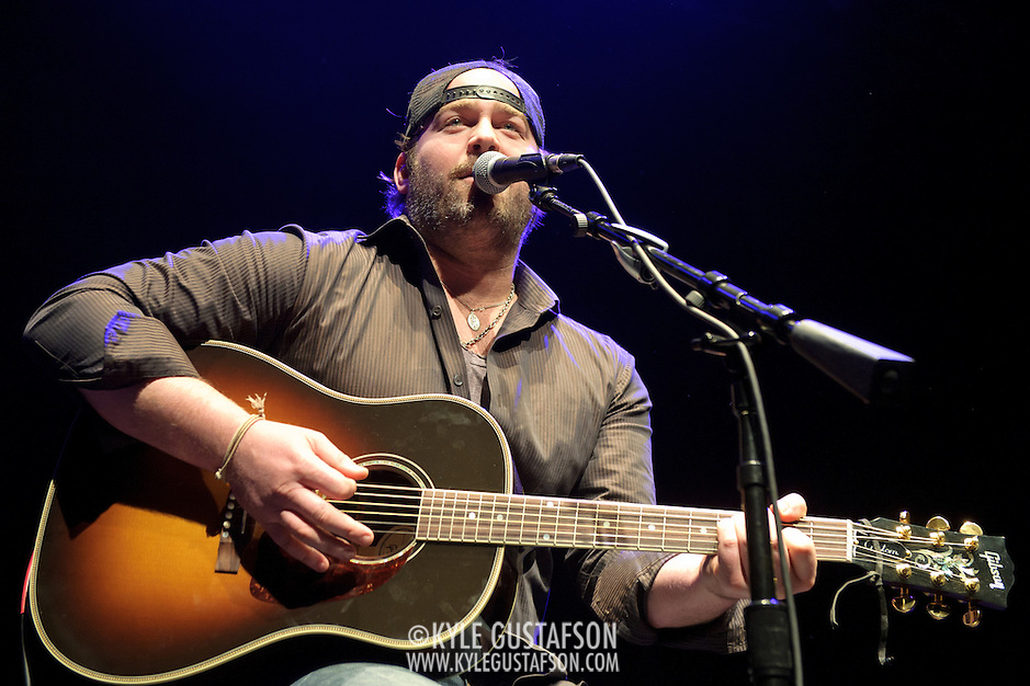 SILVER SPRING, MD- February 7th, 2013 - Lee Brice performs at the 98.7 WMZQ I Heart Country Concert benefitting the American Heart Association at the Fillmore Silver Spring in Silver Spring, MD.  Brice, a former football player at Clemson, is still riding high off of the success of his sophomore album, Hard 2 Love, which reached No. 5 in the Billboard 200 album chart in 2012. ( Photo by Kyle Gustafson/For The Washington Post) (Kyle Gustafson/For The Washington Post)
