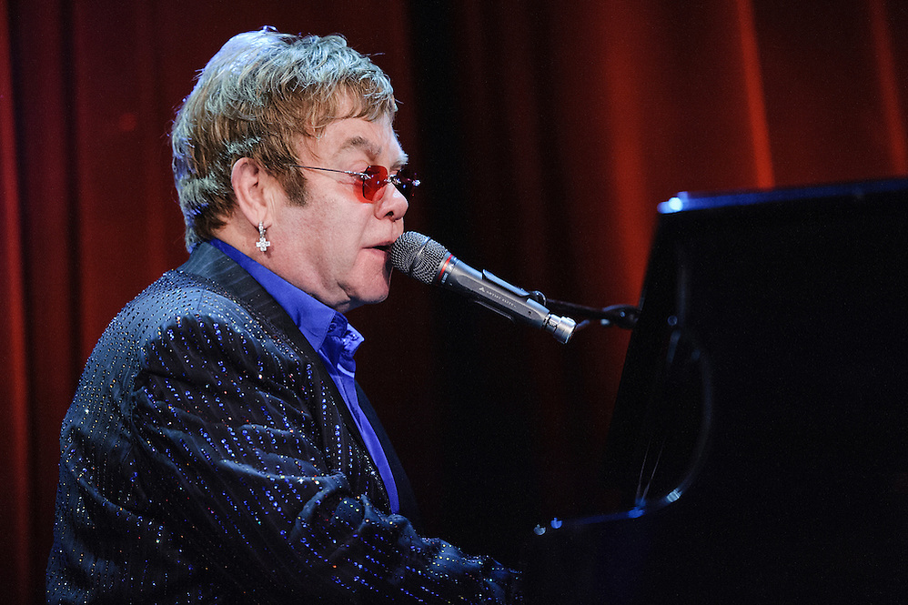 Photos of musician Elton John performing live at the Carnegie Hall Medal of Excellence Gala event at the Waldorf Astoria, NYC. June 13, 2013. Copyright © 2013 Matthew Eisman. All Rights Reserved (Photo by Matthew Eisman/WireImage)