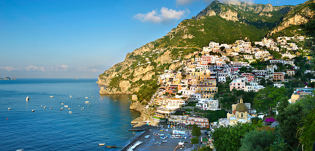 The fashionable  resort of Positano, Amalfi coast, Italy (Paul Williams)