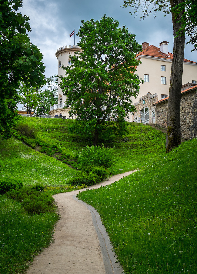 LATVIA, CESIS - CIRCA JUNE 2014: View of Cesis Castle Park in Latvia (Daniel Korzeniewski)