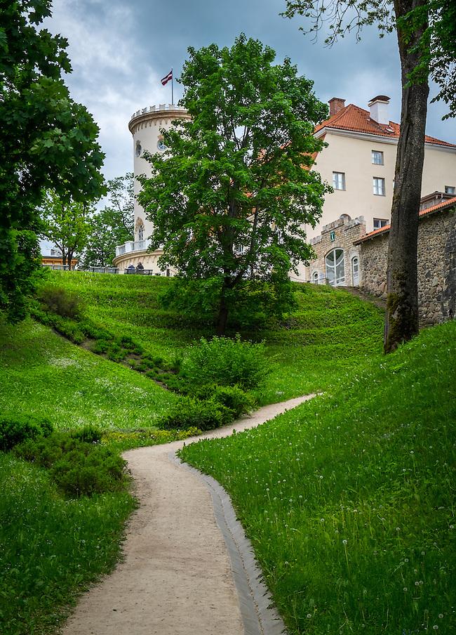 LATVIA, CESIS - CIRCA JUNE 2014: View of Cesis Castle Park in Latvia (Daniel Korzeniewski)