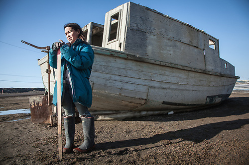 Ten year old Anya Scgevan, Barrow, Alaska, Purchase Centennial Poject (Clark James Mishler)