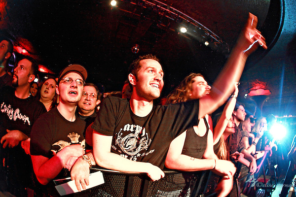 "Fans cheer as Alter Bridge performs on January 1st, 2011 in support of CD ""AB III""  at the Showbox Market in Seattle, Washington (Elisa Sherman)"