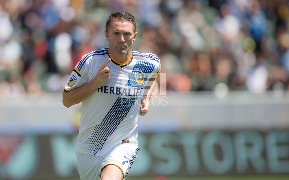 Carson, CA. - Sunday, August 23, 2015: The Los Angeles Galaxy defeat New York City FC 5-1 during Major League Soccer play at StubHub Center. (Michael Janosz/isiphotos.com)