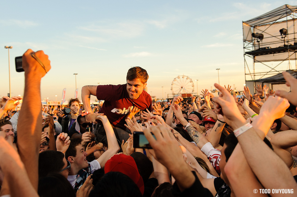 Circa Survive performs at the Bamboozle Music Festival. Meadowlands Sports Complex, East Rutherford, NJ.  May 1, 2011. Copyright © 2011 Todd Owyoung. (Todd Owyoung)