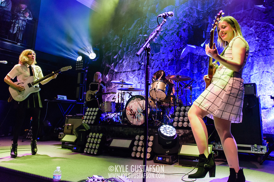 WASHINGTON, DC - February 24, 2015 - Carrie Brownstein, Janet Weiss and Corin Tucker of Sleater-Kinney perform during the first of two sold-out shows at the 9:30 Club in Washington, D.C. The band, on hiatus since 2006, reunited late in 2014 and recently released No Cities to Love, their first album in almost 10 years. (Photo by Kyle Gustafson / For The Washington Post) (Kyle Gustafson/For The Washington Post)