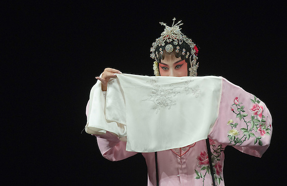 VENICE, ITALY - JULY 29:  Luo Chenxue from the Kunqu Opera of Jiangsu performs at Teatro Goldoni on July 29, 2011 in Venice, Italy. Kunqu Opera, now under the Unesco patronage, originated in the Jiangsu province, dating back to the early Ming dinasty. With a history of more than six hundred years, Kunqu Opera is a traditional type of Chinese drama and one of the most ancient opera forms in China and in the world. (Marco Secchi/Getty Images)
