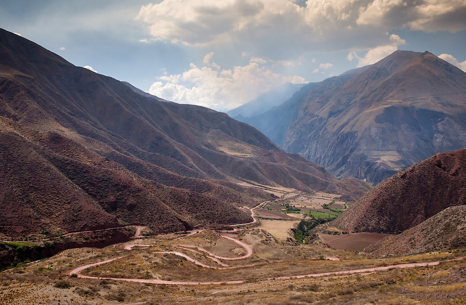 URUBAMBA PROVINCE, CUSCO, PERU - CIRCA OCTOBER 2015: View of the Urubamba Valley in the Cusco region known as Sacred Valley in Peru. (Daniel Korzeniewski)