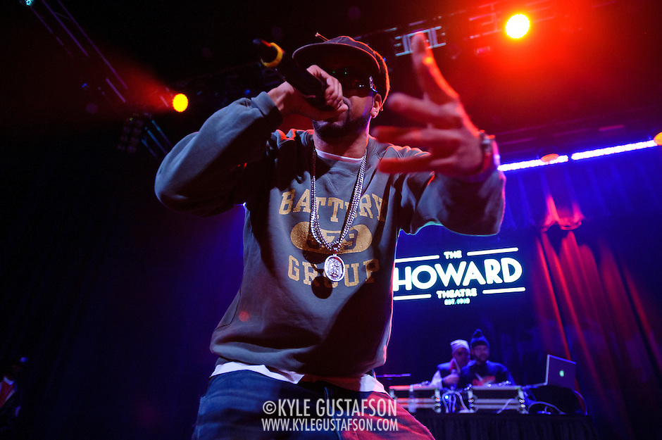 WASHINGTON, DC - January 22nd, 2013 - Long Island rapper Roc Marciano (left) performs with DJ Alejandro at the Howard Theater in Washington, D.C.  His sophomore album, Reloaded, was released to widespread acclaim in November 2012. (Photo by Kyle Gustafson/For The Washington Post) (Kyle Gustafson/For The Washington Post)