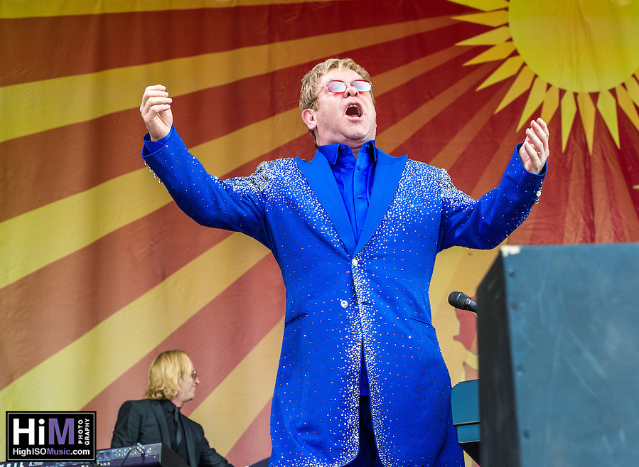 Elton John at the New Orleans Jazz and Heritage Festival on May 2, 2015. (HIGH ISO Music, LLC)
