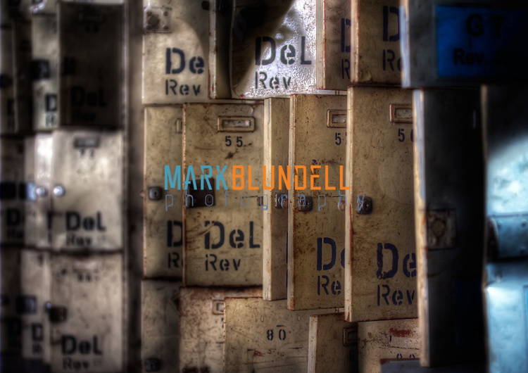 Lockers at a disused mine in Germany (Mark Blundell)
