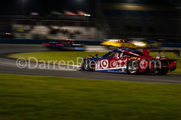 #01 Chip Ganassi Racing with Felix Riley DP: Scott Pruett, Joey Hand, Charlie Kimball, Sage Karam (Darren Pierson)