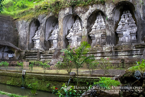 Bali, Gianyar, Gunung Kawi. An 11th century temple complex close to Tampaksiring. On the eastern part there is five temples or shrines. (Photo Bjorn Grotting)