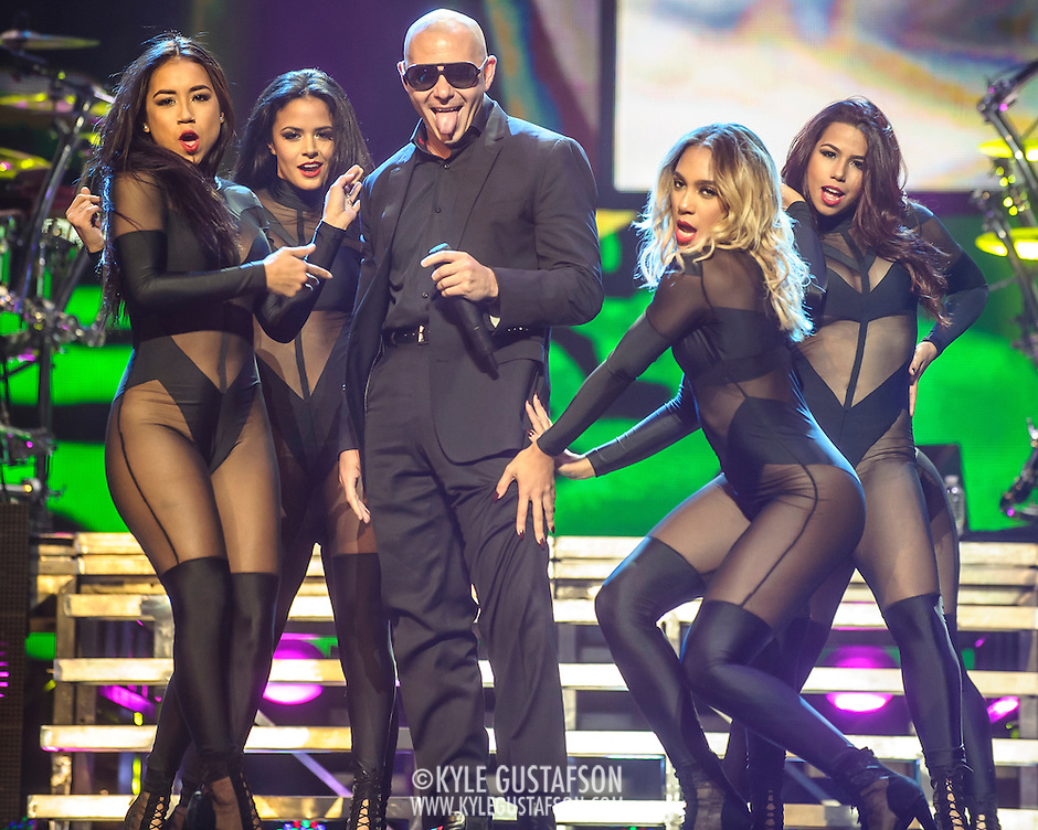 "WASHINGTON, DC - September 13, 2014 - Pitbull performs at the Verizon Center in Washington, D.C. The rapper, who's hits include the #1 singles ""Give Me Everything"" and ""Timber"", will release his eighth studio album, later this year. (Photo by Kyle Gustafson / For The Washington post) (Kyle Gustafson/For The Washington Post)"