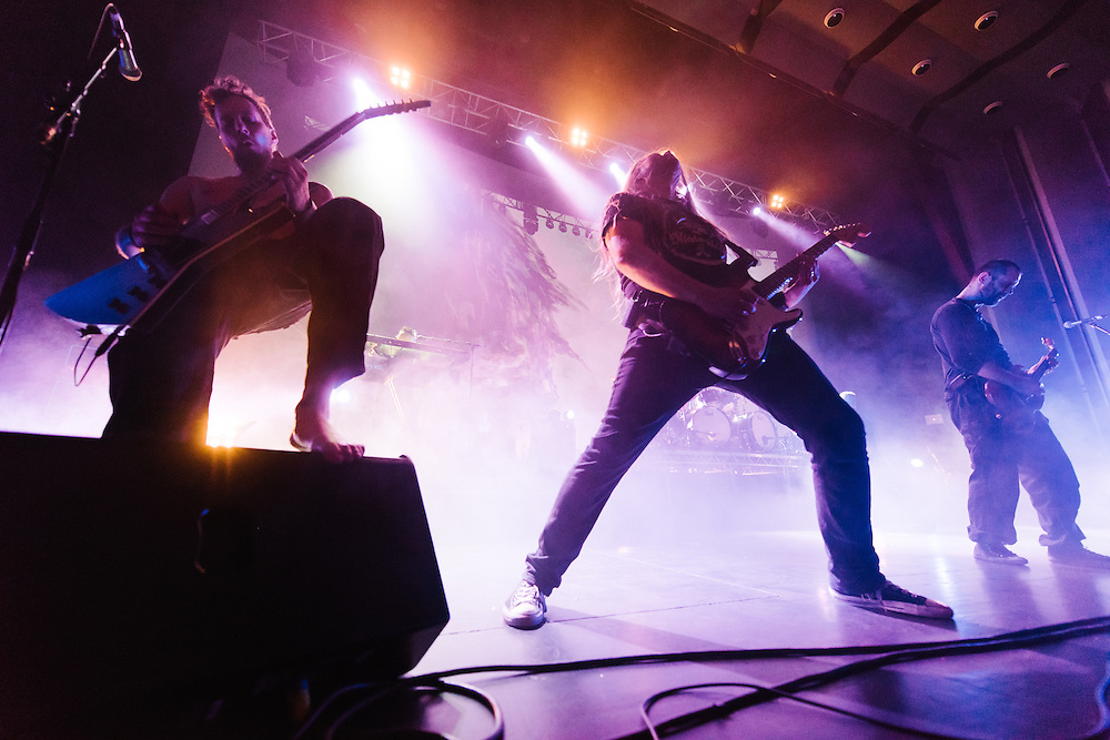 Photos of Icelandic viking metal band Skálmöld performing live at Háskólabíó in Reykjavik, Iceland for the release of their album Með Vættum. January 24, 2015. Copyright © 2015. Matthew Eisman. All Rights Reserved (Matthew Eisman/Photo by Matthew Eisman)