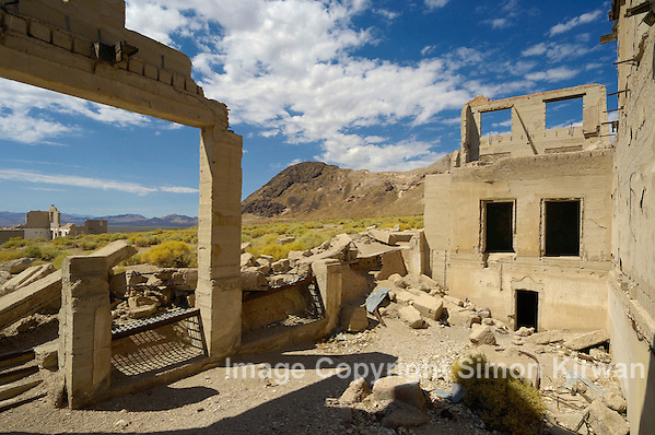 Rhyolite Ghost Town, Nye County, Nevada, USA - Travel Photography by Simon Kirwan